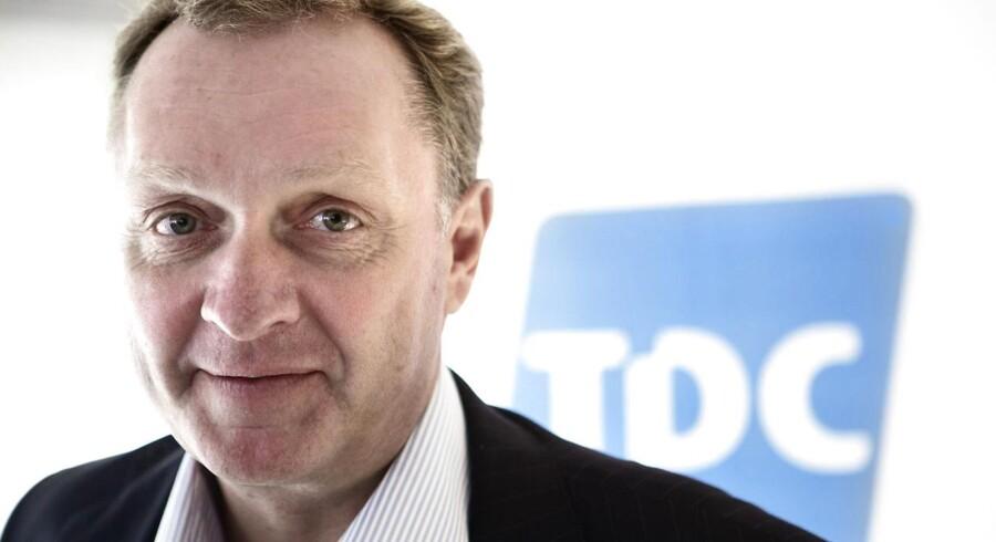 TDCs topchef, Carsten Dilling, har haft tæt samarbejde med Forsvarets Efterretningstjeneste, før den kinesiske mobilgigant Huawei blev valgt til fremover at stå for TDCs mobilnet i Danmark. Arkivfoto: Jeppe Bøje Nielsen, Scanpix