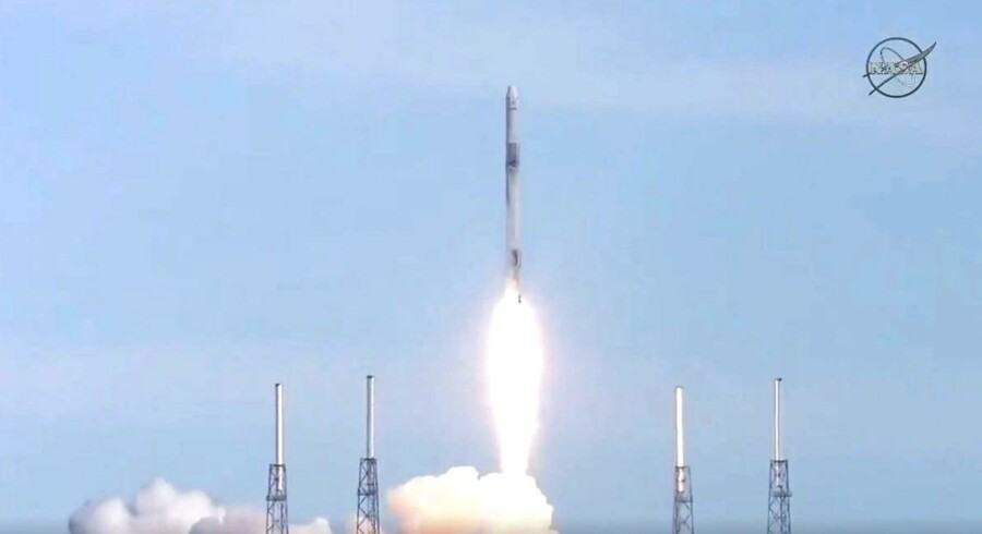 Rumobservatoriet Asim, som er ombord på det ubemandede rumskib, kom succesfuldt afsted. Det skriver Ritzau mandag den 2. april 2018 / AFP PHOTO / NASA TV / Jose ROMERO
