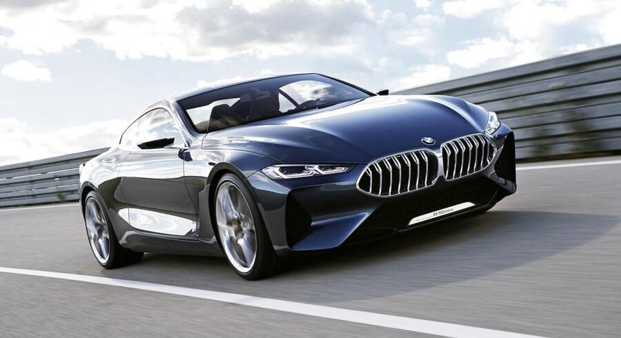 Konceptbilen Concept 8 Series bliver i 2018 til den nye 8-serie.