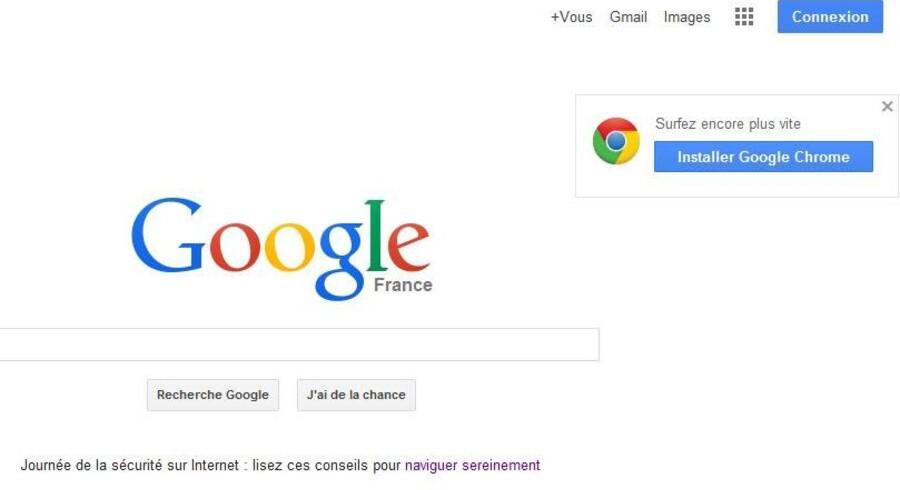 Det skal fremgå af Googles franske søgeside, at internetgiganten har fået en bøde for overtrædelse af privatlivets fred.