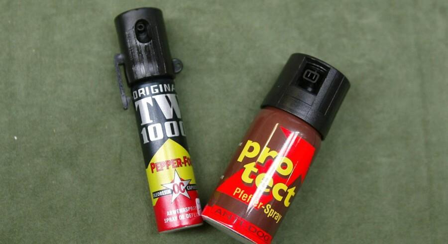 ARKIVFOTO af peberspray