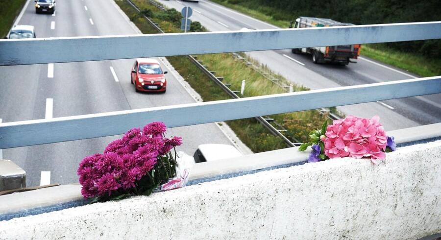 Arkivfoto: Natten til 9. september blev en tung sten kastet ned på en fynsk motorvej.
