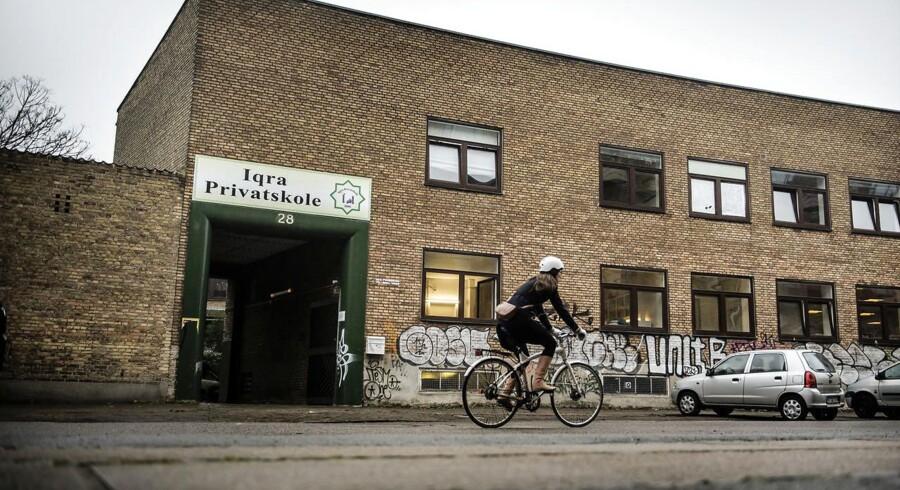 Iqra Privatskole i Hermodsgade, København N fotograferet onsdag den 20. december 2017. Den muslimske friskole Iqra Privatskole på Nørrebro i København står til at miste sit statstilskud, der sidste år var på 21, 7 millioner krone. . (Foto: Thomas Lekfeldt/Scanpix 2017)