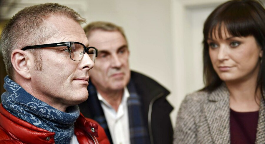 Flemming Møller Mortensen, sundhedsordfører fra Socialdemokraterne taler med journalister efter drøftelser med sundhedsminister Nick Hækkerup om fremtiden for atomaffaldet fra Risø onsdag d. 11 marts 2015 i Sundhedsministeriet. (Foto: Erik Refner/Scanpix 2015)