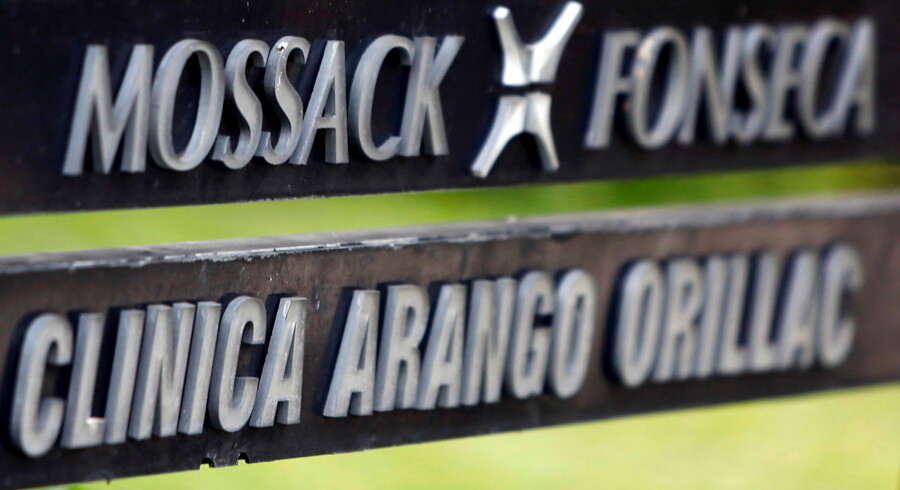 A company list showing the Mossack Fonseca law firm is pictured on a sign at the Arango Orillac Building in Panama City in this April 3, 2016 file photo. REUTERS/Carlos Jasso/Files TPX IMAGES OF THE DAY
