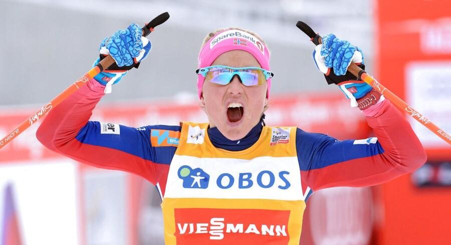 Norske Therese Johaug vinder i Falun i Sverige i februar 2016.