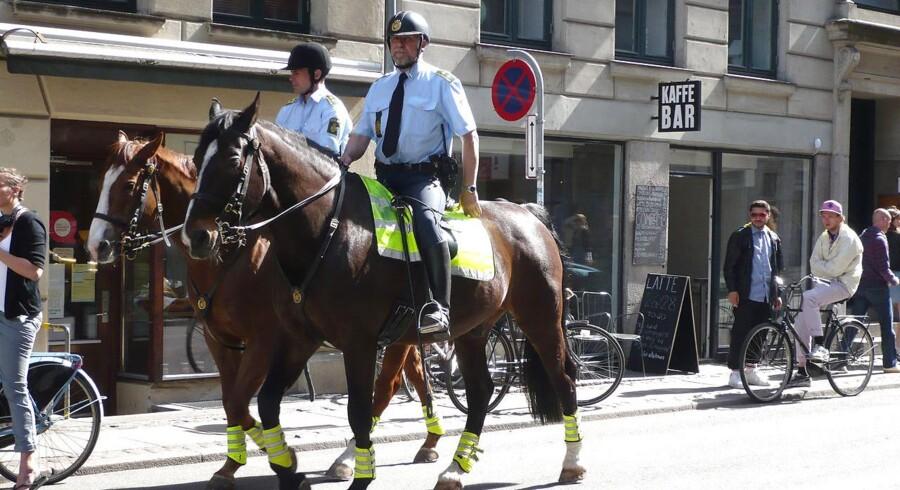 ARKIVFOTO: Politi til hest. Nørrebro.