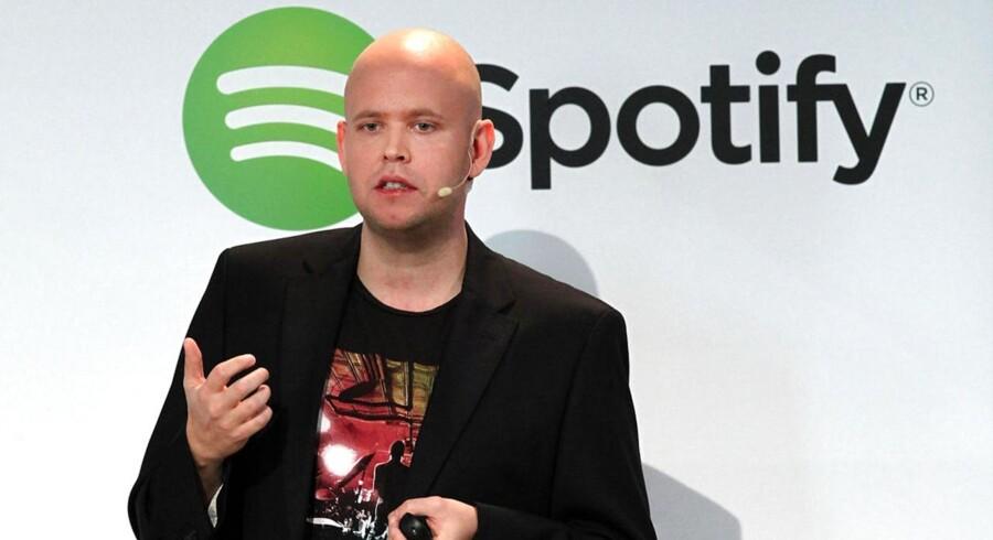 Daniel Ek er medstifter af og chef for den svenske streamingtjeneste Spotify, som begynder at tjene flere penge men fortsat kæmper mod underskud. Arkivfoto: Spencer Platt, Getty/AFP/Scanpix