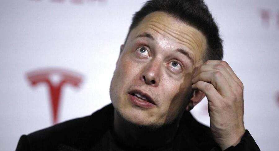 Tesla Motors' stifter og topchef Elon Musk. han gør sig i alt fra elbiler til rumraketter. Nu er han mulighvis på vej med en rentabel løsning på, hvoran man kan opbevare overskudsstrøm.