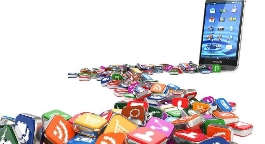 Der er store penge og mange jobs i den app-industri, som følger med smartphonetelefonernes store udbredelse. Arkivfoto: Iris/Scanpix
