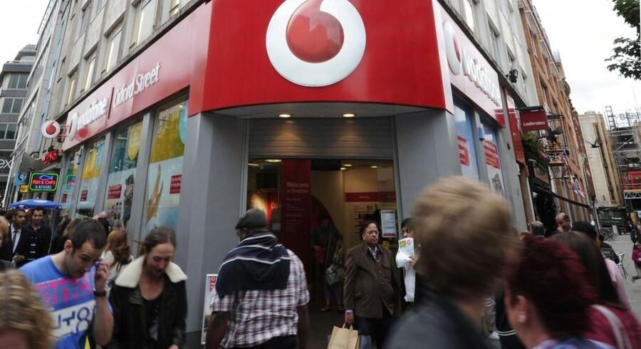 Vodafone har accepteret at efterbetale et kæmpe millionbeløb i skat til Storbritannien. Arkivfoto: Carl Court, AFP/Scanpix