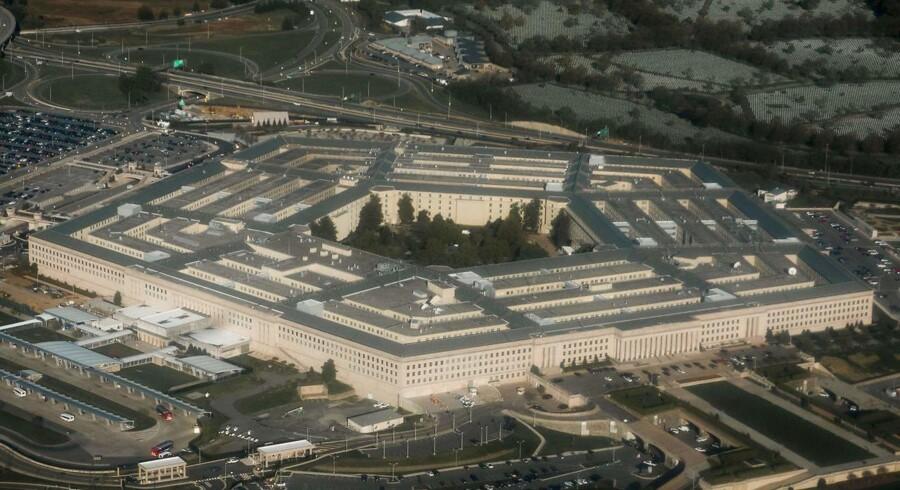 Det amerikanske forsvarsministerium, Pentagon, har i flere år brugt adskillige millioner dollar på at undersøge rapporter om ufo'er. / AFP PHOTO / SAUL LOEB