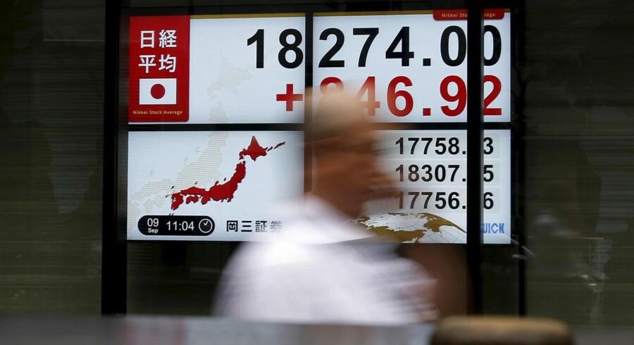 Japans Nikkei 225-indeks steg 7,7 pct.