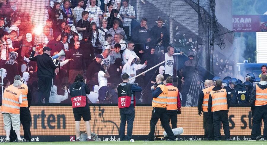 FCK fans under Superligakampen mellem Brøndby IF og FCK, Søndag den 6. august 2017.
