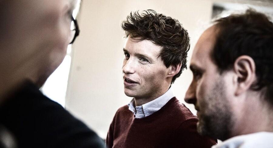 Eddie Redmayne i København i forbindelse med optagelserne af filmen »The Danish Girl« - med støtte fra Copenhagen Film Fund.N