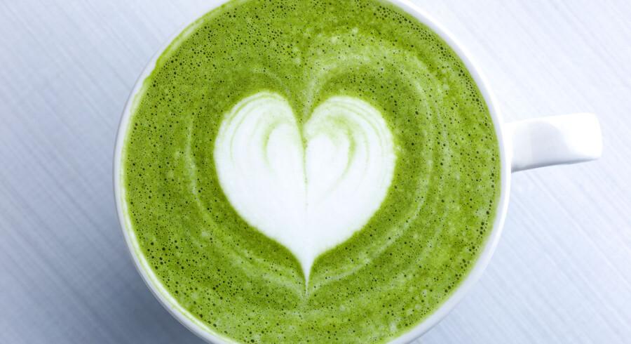 I de kommende år vil bl.a. den grønne japanske te, Matcha, blive stor i Danmark, spår ernæringsekspert Karina Kongsted.