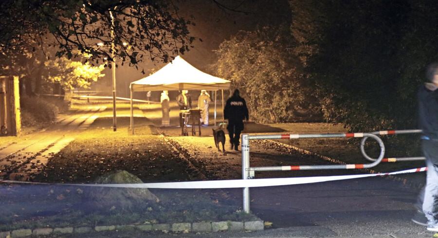 Politiet vil gerne i kontakt med en ung mand, som løb ud af parken tæt på, hvor den dræbte kvinde blev fundet. Foto: Mathias Øgendal