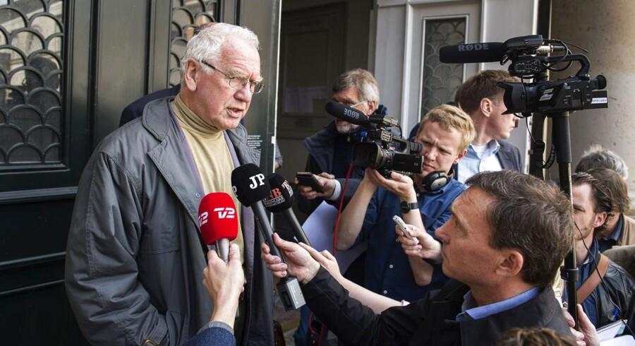 Arkivfoto. Bent Jensen møder pressen foran Højesteret onsdag, efter dommen er blevet afsagt.