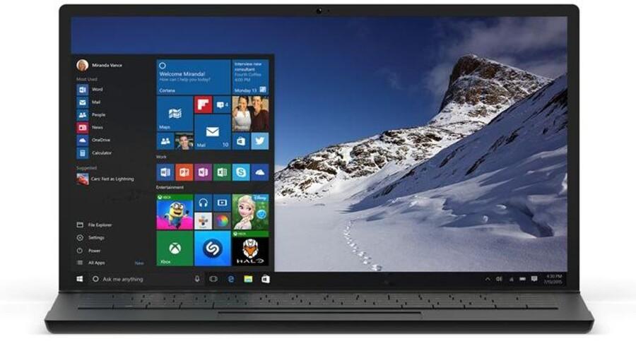 Windows 10 bliver det samme på tværs af PCer, tavle-PCer, mobiltelefoner og Xbox-spillekonsollen. Foto: Microsoft