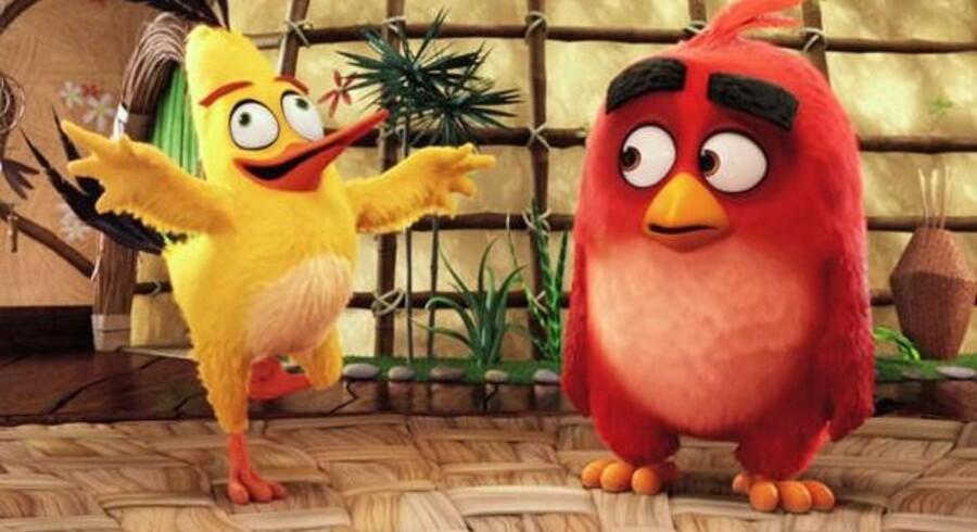 Fuglen Red er hovedpersonen i animationsfilmen over det voldsomt populære mobilspil »Angry Birds«. PR-foto