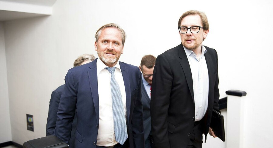 Arkivfoto. Både udenrigsminister Anders Samuelsen og økonomi- og indenrigsminister Simon Emil Ammitzbøll-Bille er tavse.