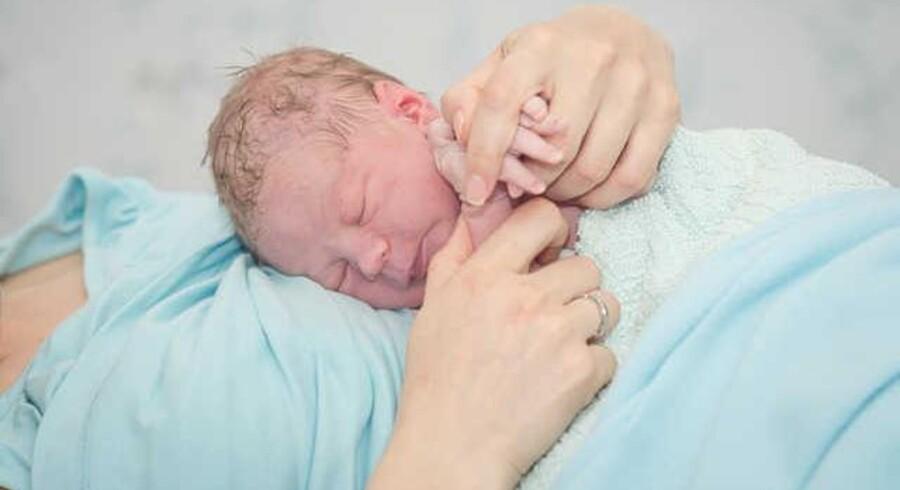 Den 29-årige sygeplejerske Sille Tejlmann fødte en søn direkte på DR1 onsdag aften. Det var danmarkshistoriens første live-transmitterede kejsersnit nøje planlagt til aftenkaffen. (Arkivfoto: Scanpix)