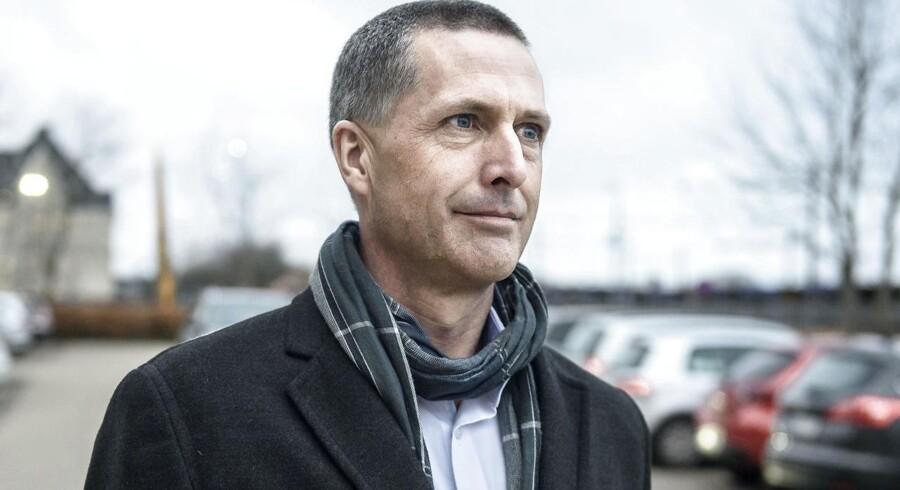 Ateasagen. direktør Morten Felding, Atea, på vej ind i Retten I Glostrup for at vidne