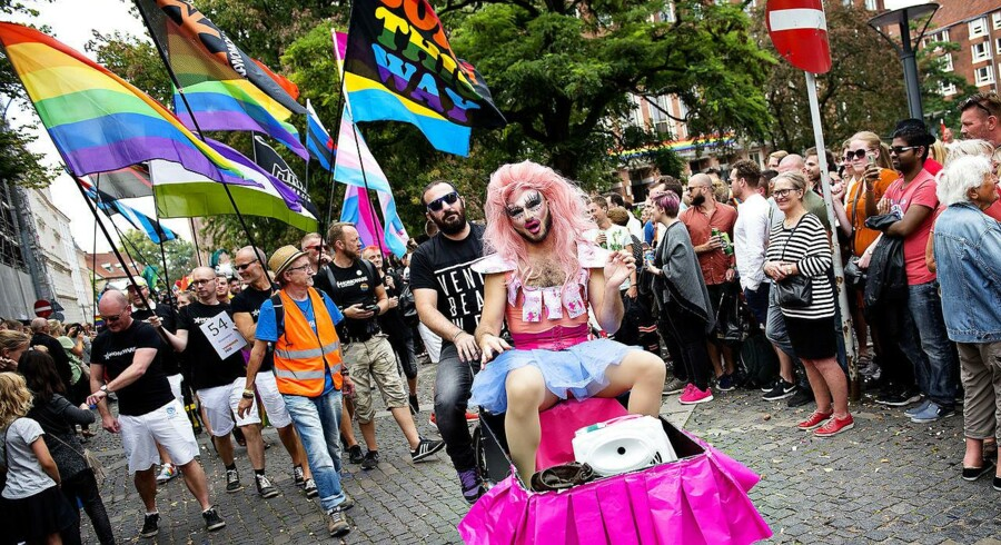 I 72 lande er homoseksualitet stadig strafbart. Her ses et arkivfoto fra Pride paraden i København.