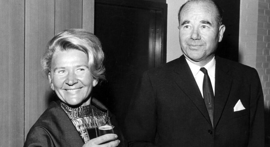 ARKIVFOTO: Erhvervsmanden Aage V. Jensen med frue.
