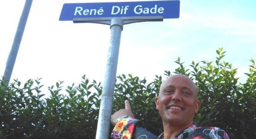 I 2013 fik René Dif sin egen gade i Østermarie.