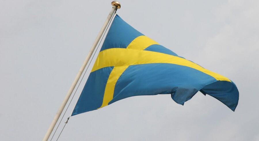 Det svenske flag.