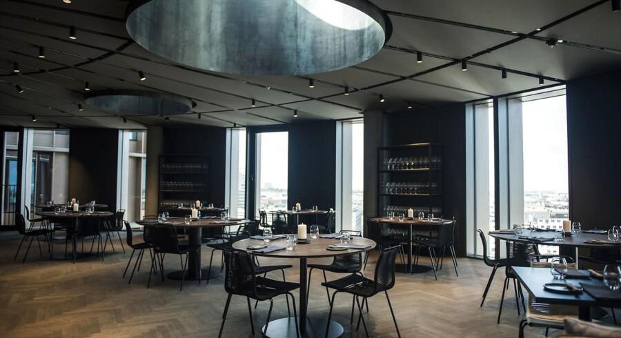 Udsigt fra Axel Towers. Madanmeldelse af restaurant Trio i Axel Towers.