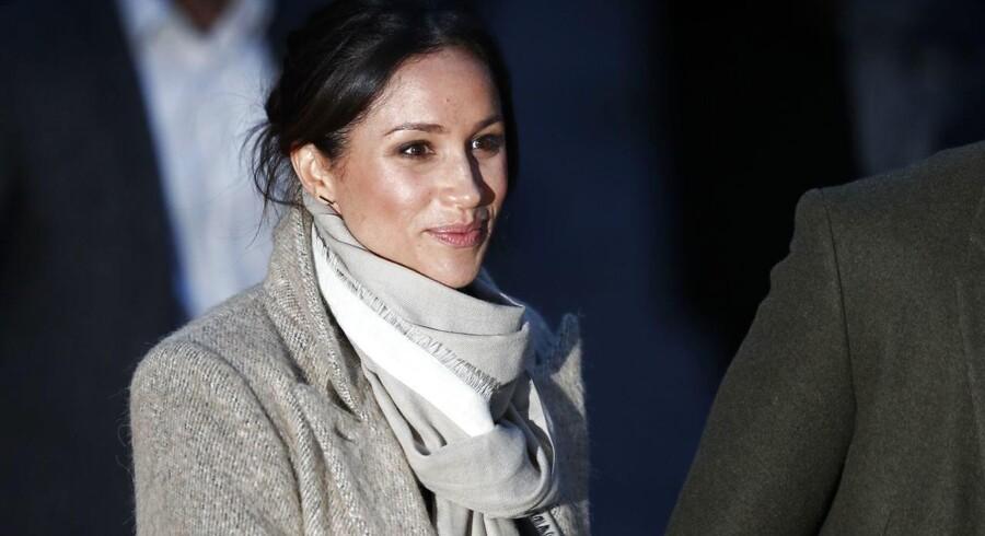 Meghan Markle, der skal giftes med prins Harry, er »grim«, har Ukip-leders kæreste skrevet i sms'er. AFP PHOTO / Adrian DENNIS
