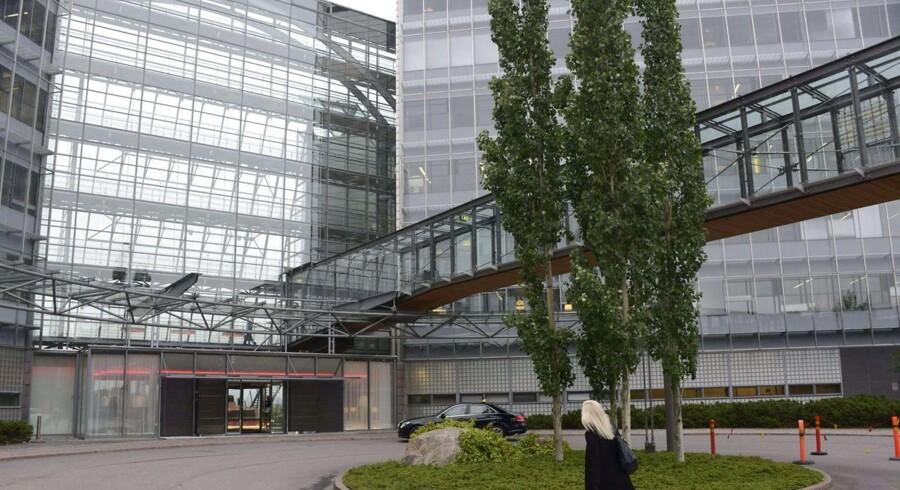 Nokias hovedkvarter i Espoo uden for hovedstaden Helsinki summer af liv efter Microsofts køb af mobilproducenten. Foto: Sari Gustafsson, AFP/Scanpix