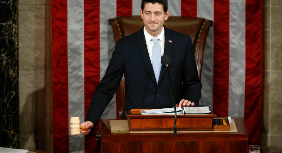 Newly elected Speaker of the U.S. House of Representatives Paul Ryan wields the speaker's gavel for the first time on Capitol Hill in Washington October 29, 2015. REUTERS/Gary Cameron