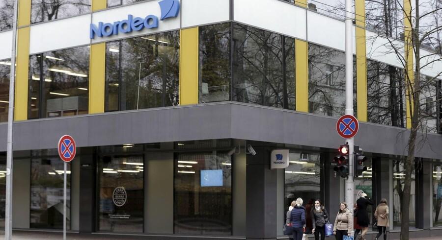 Nordea-aktien bliver onsdag morgen straffet på Københavns Fondsbørs