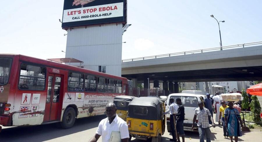 Nigeria har haft held til at få ebola under kontrol i landet, her i hovedstaden, Lagos. Foto: Utomi Ekpei/AFP