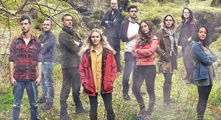 Deltagerne i tv-programmet Eden på Channel 4.