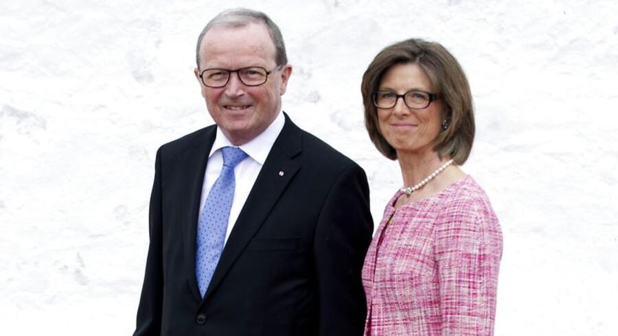 Danmarks rigeste ægtepar Kjeld og Camilla Kirk Kristiansen fra Lego-dynastiet