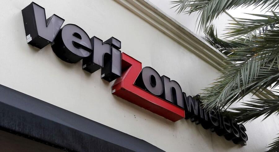 Den amerikanske telekoncern Verizon venter, at indtjeningen kommer under pres i andet kvartal. (REUTERS/Joe Skipper/Files)