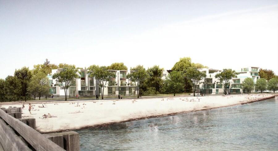 Rækkehuse i luksusudgaven er en tendens, der er vokset. Her er det de nye rækkehuse på Strandpromenaden, der skal bygges.