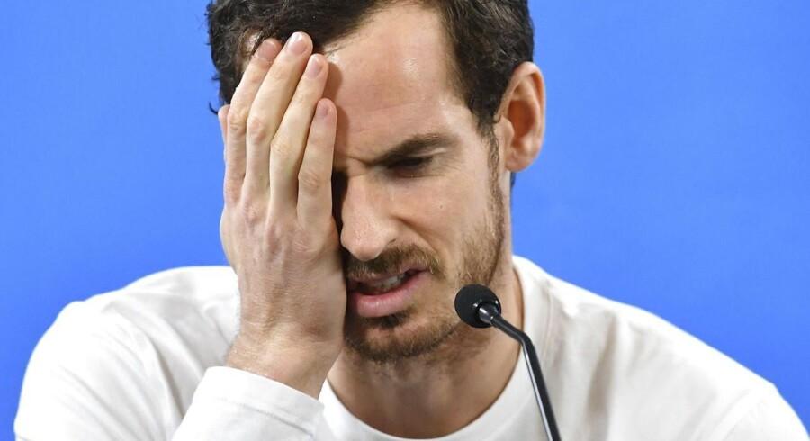 Arkivfoto. Andy Murray har pådraget sig en hofteskade.