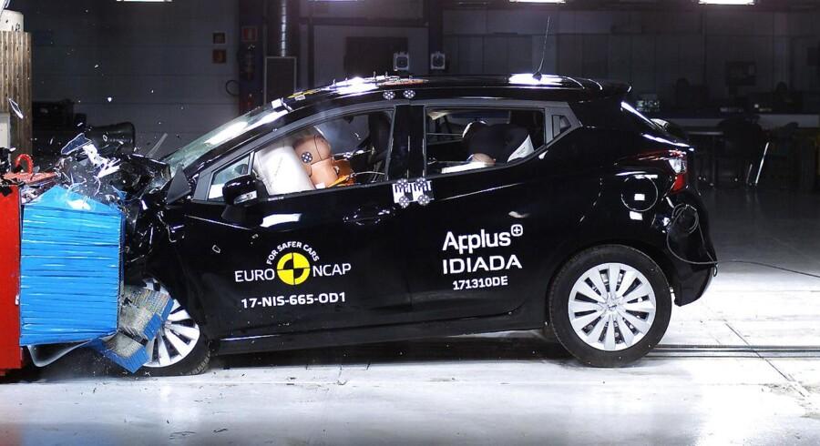 Testens positive overraskelse er minibilen Nissan Micra, som klarer sig til fem stjerner