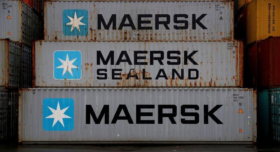 Arkivfoto. Fra næste måned får kunder hos A.P. Møller-Mærsks containerrederi, Maersk Line, mulighed for at følge med i selskabets kølecontaineres færden på verdenshavene samt de indvendige temperaturforhold.