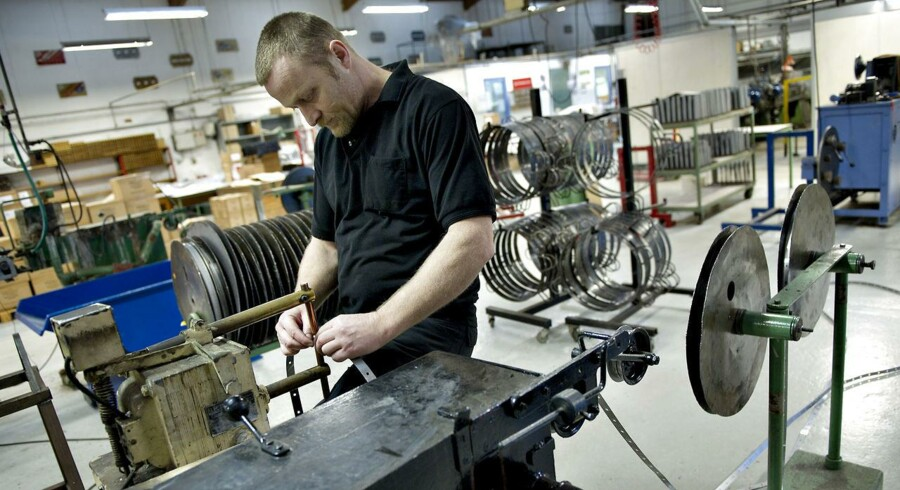 Hvis Dansk Industris prognose holder stik, bliver der skabt 32.000 nye arbejdspladser i 2015. Arkivfoto