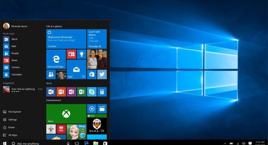 Windows 10 kom 29. juli og er på vej ud på masser af danske PCer. Foto: Microsoft