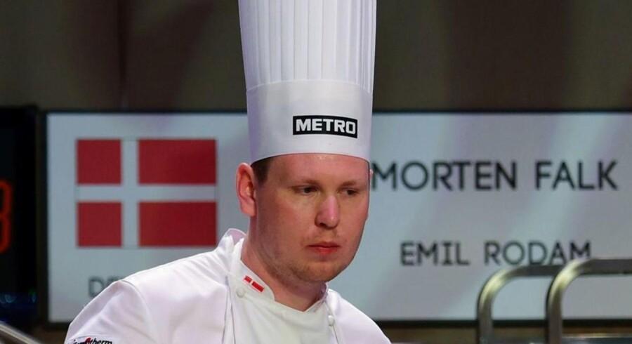 Den danske kok Morten Falk måtte onsdag aften nøjes med en 10.-plads efter et drama om hjemmesyltede varer ved Bocuse d'Or Europe - det uofficielle EM for kokke.