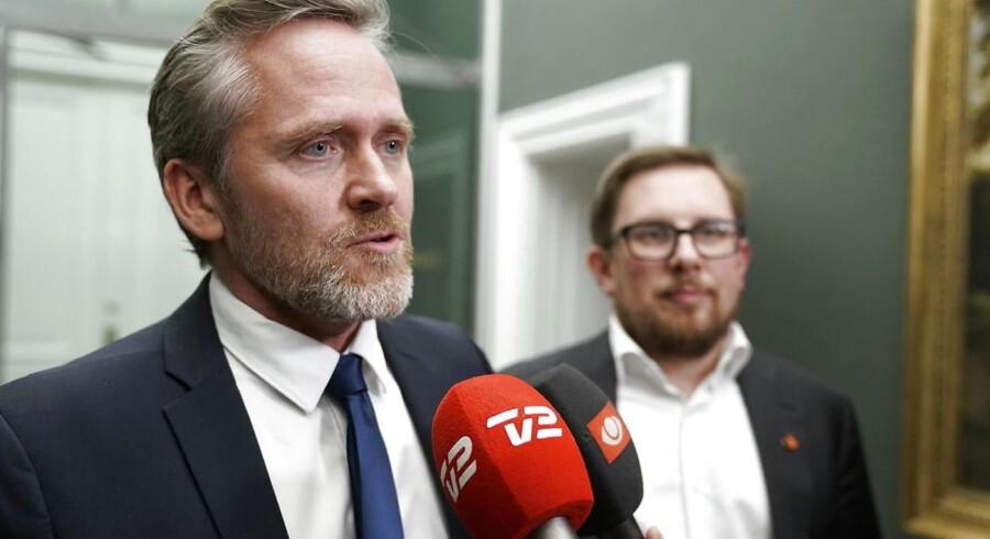ARKIVFOTO: Udenrigsminister Anders Samuelsen (LA) efter forhandlingerne om finansloven med Dansk Folkeparti i Statsministeriet fredag d. 8. december 2017.