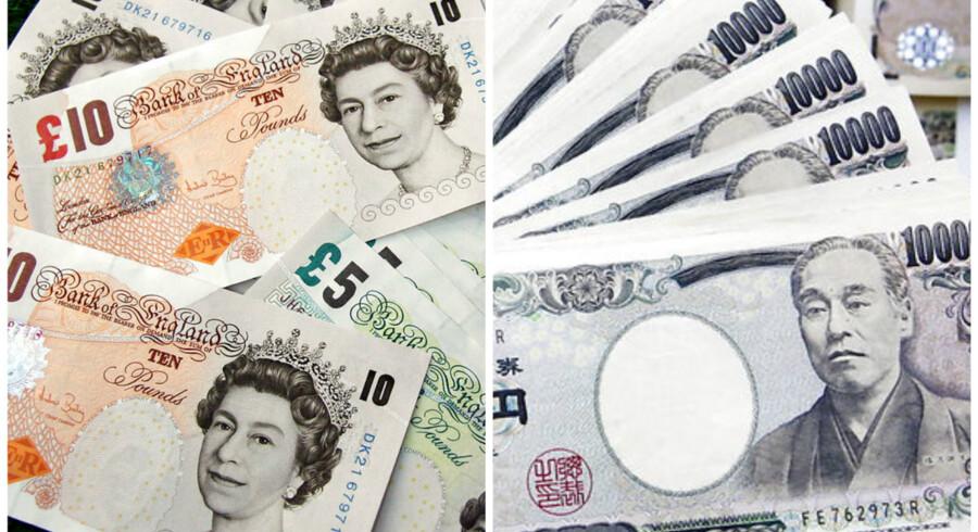 De internationale valutahandlere tager igen fat i pryglingen af britiske pund, der bliver sendt til tælling på markedet onsdag morgen.