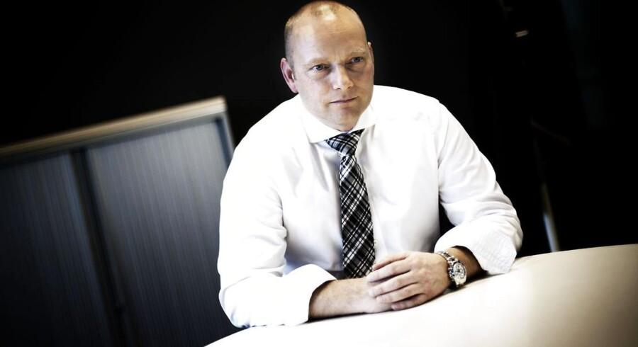 Telias topchef i Danmark, Søren Abildgaard, forudser jævn og stabil vækst i 2014 og er klar til at gå til TDC. Foto: Jeppe Bjørn Vejlø